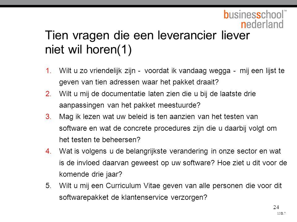 Tien vragen die een leverancier liever niet wil horen(1)
