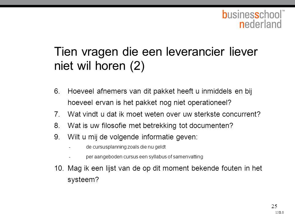 Tien vragen die een leverancier liever niet wil horen (2)