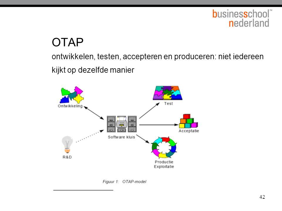 OTAP ontwikkelen, testen, accepteren en produceren: niet iedereen kijkt op dezelfde manier