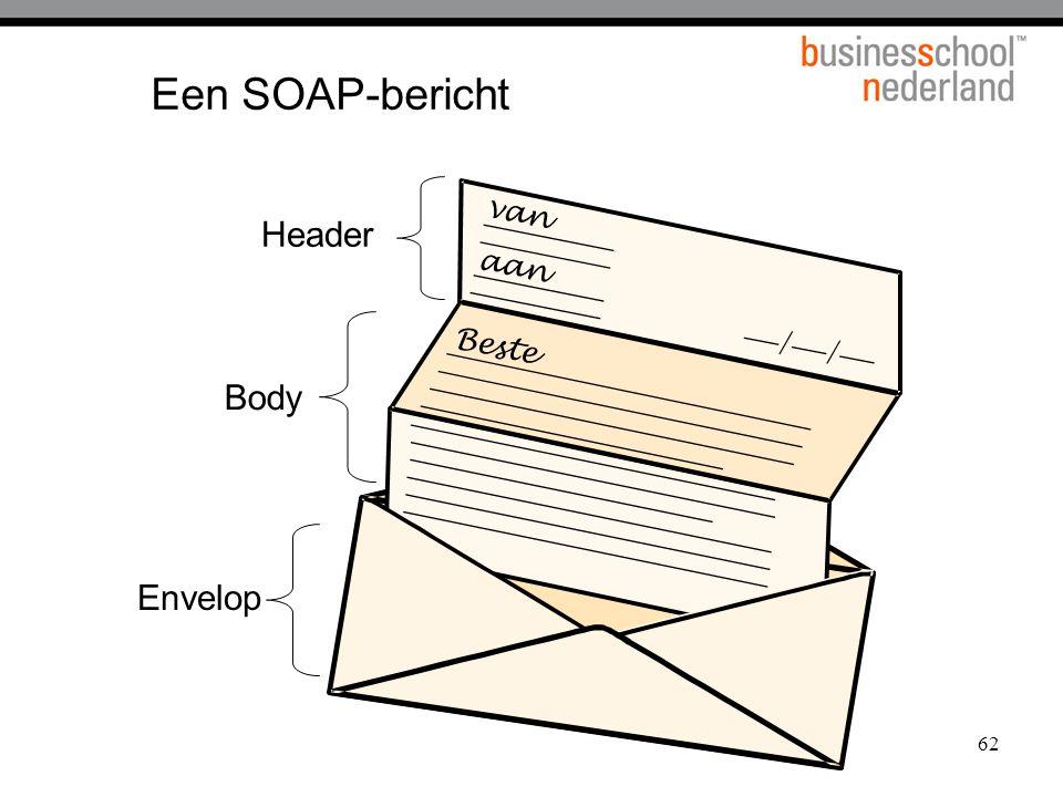 Een SOAP-bericht van aan / Beste Header Body Envelop