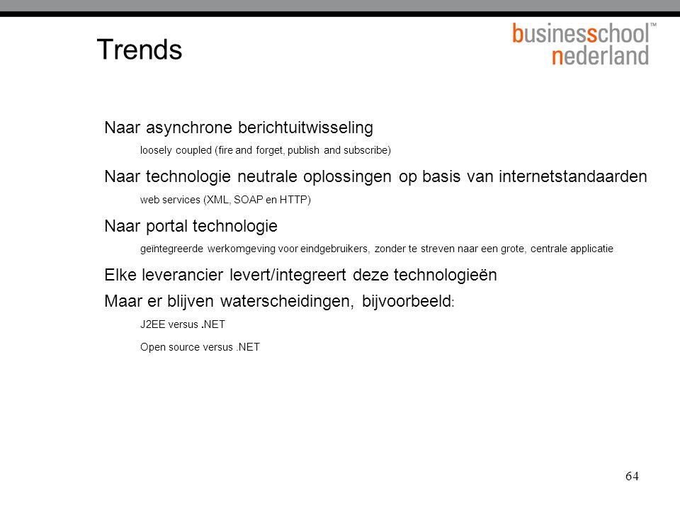 Trends Naar asynchrone berichtuitwisseling