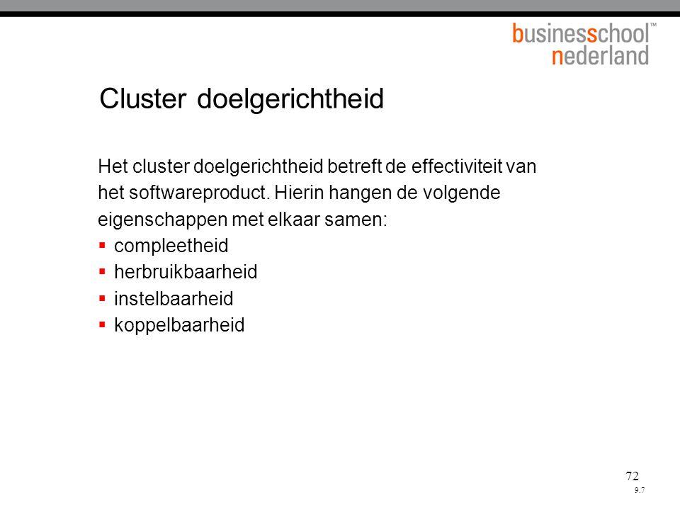 Cluster doelgerichtheid