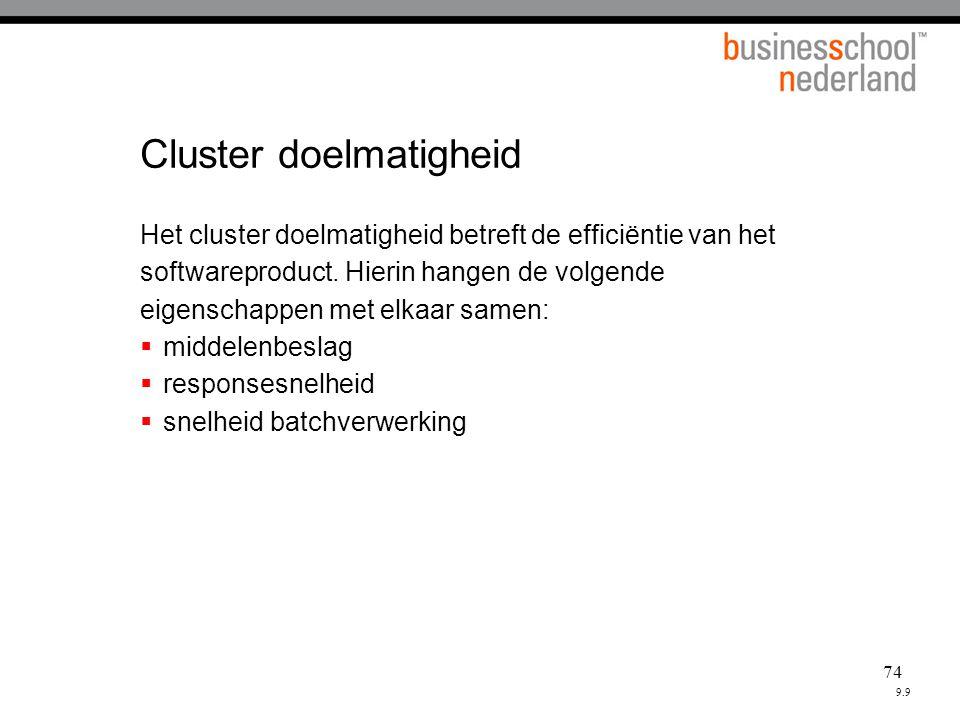 Cluster doelmatigheid