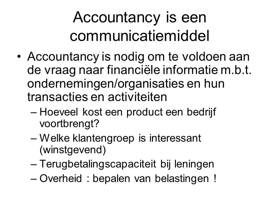 Accountancy is een communicatiemiddel