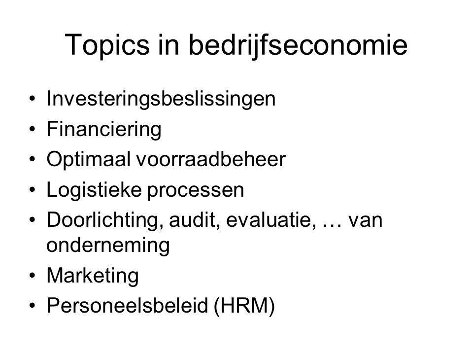 Topics in bedrijfseconomie