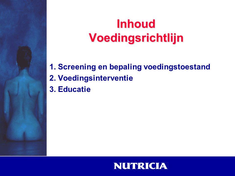 Inhoud Voedingsrichtlijn