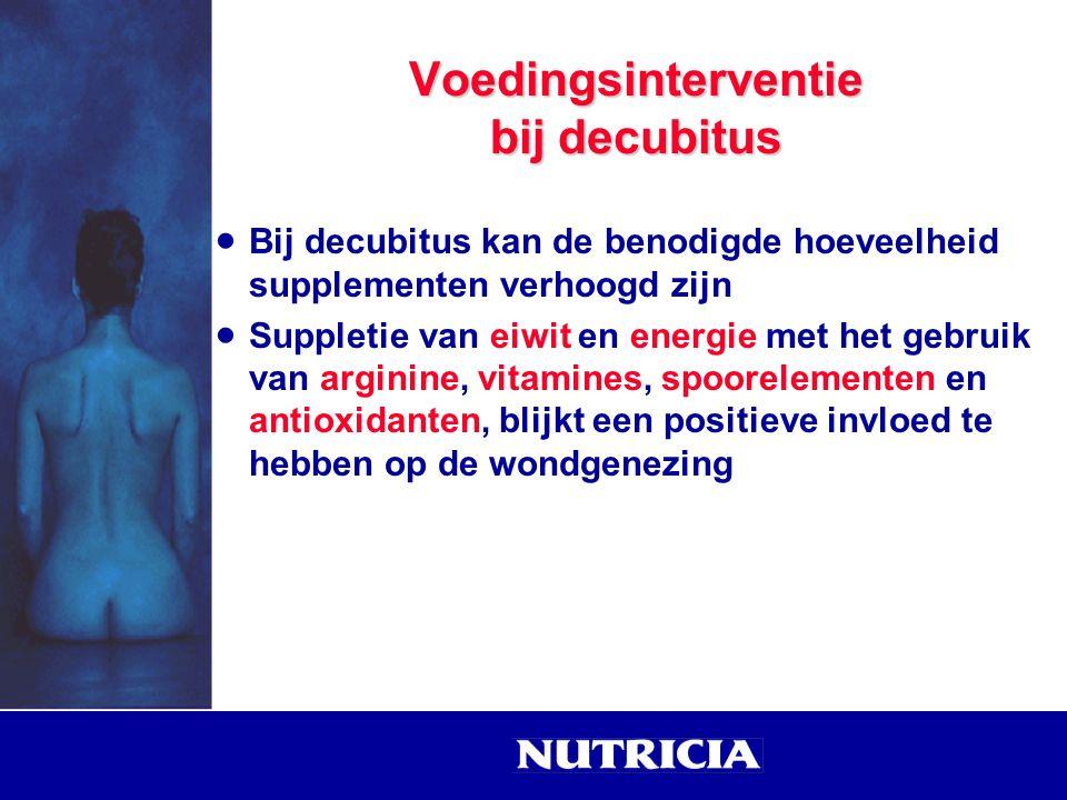 Voedingsinterventie bij decubitus