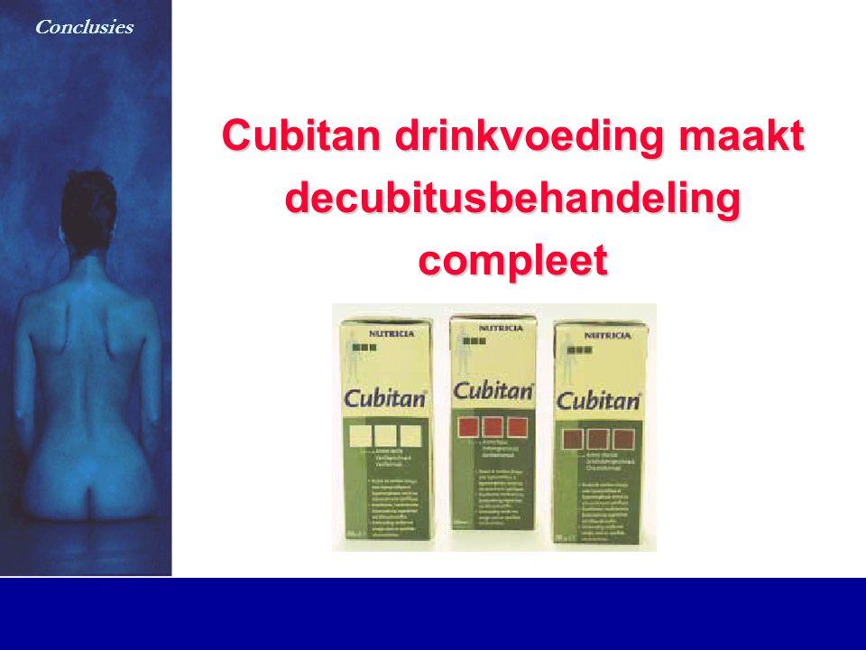 Cubitan drinkvoeding maakt decubitusbehandeling