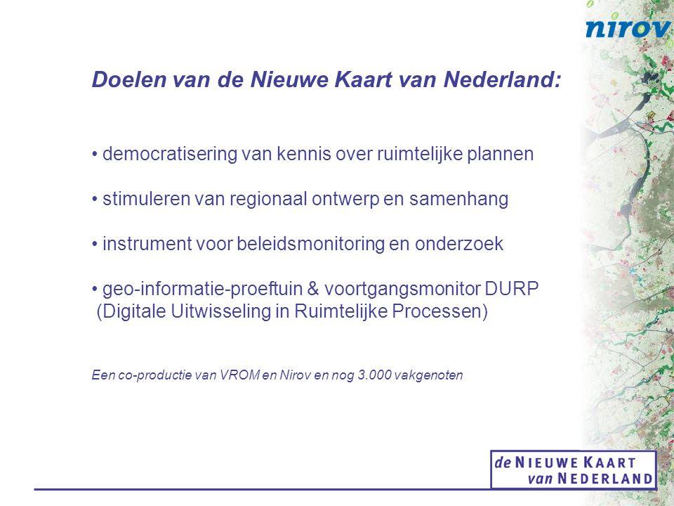 Doelen van de Nieuwe Kaart van Nederland: