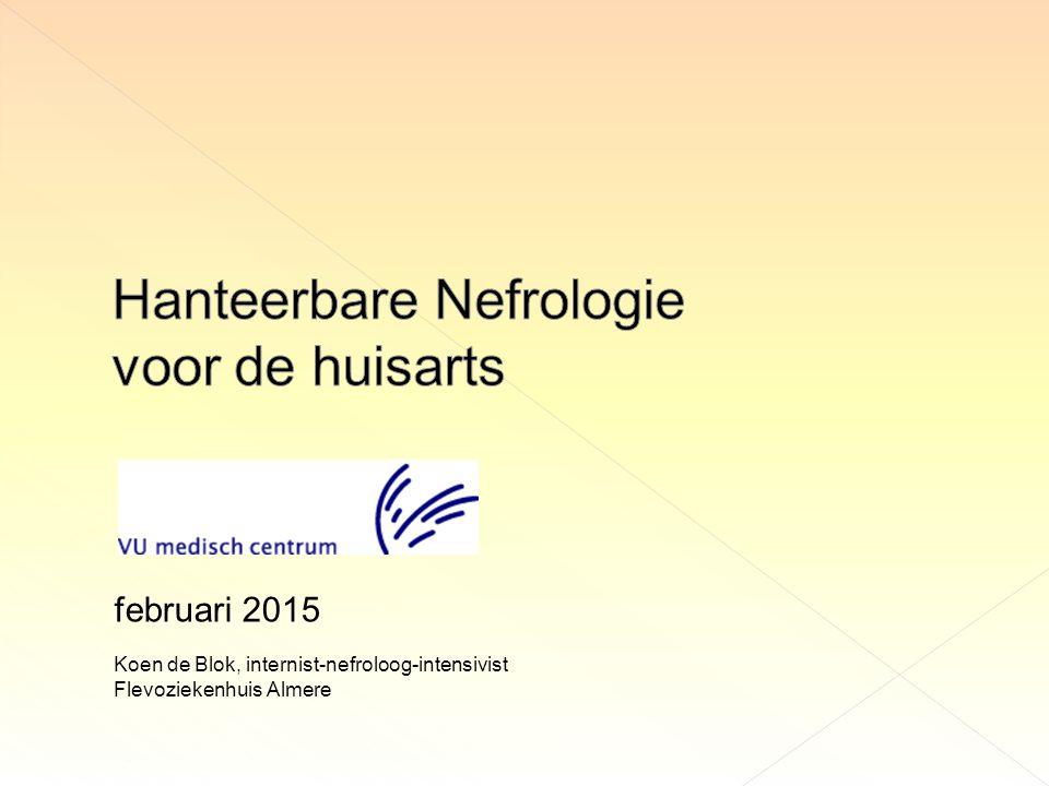 Hanteerbare Nefrologie voor de huisarts