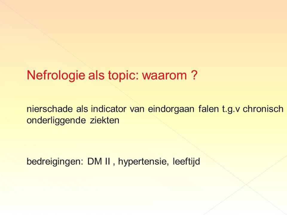 Nefrologie als topic: waarom