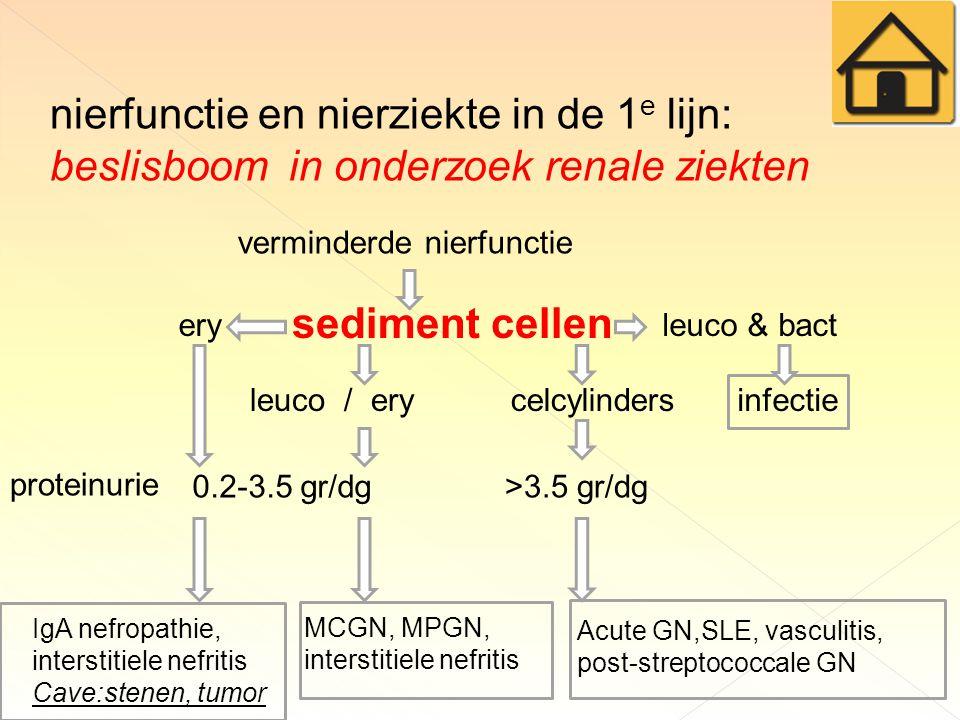nierfunctie en nierziekte in de 1e lijn: