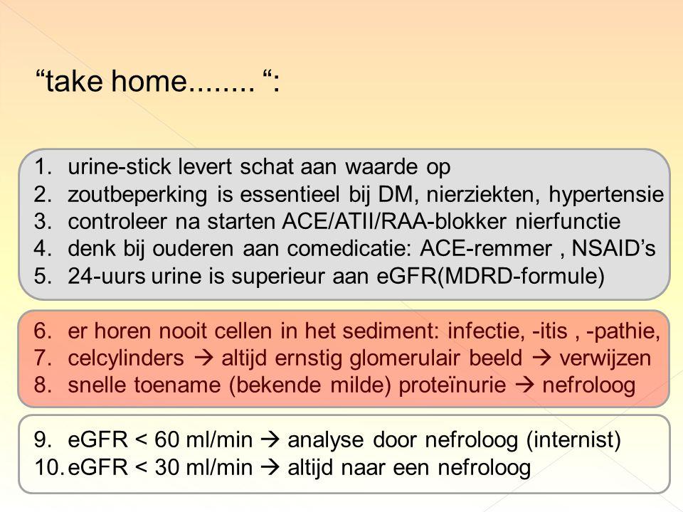 take home........ : urine-stick levert schat aan waarde op