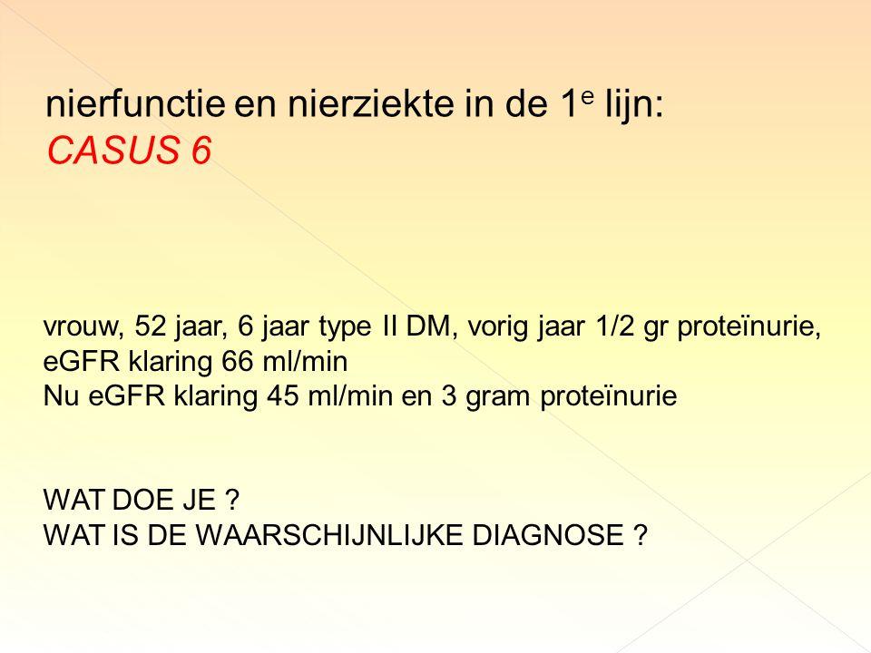 nierfunctie en nierziekte in de 1e lijn: CASUS 6