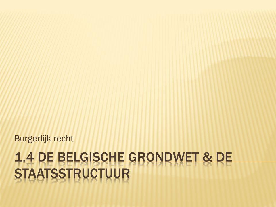 1.4 De Belgische grondwet & de staatsstructuur