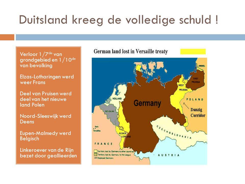 Duitsland kreeg de volledige schuld !