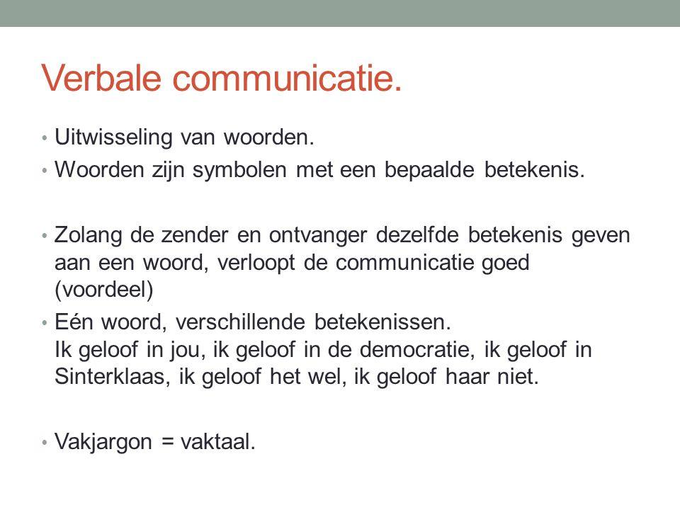 Verbale communicatie. Uitwisseling van woorden.