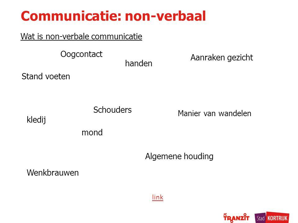 Communicatie: non-verbaal