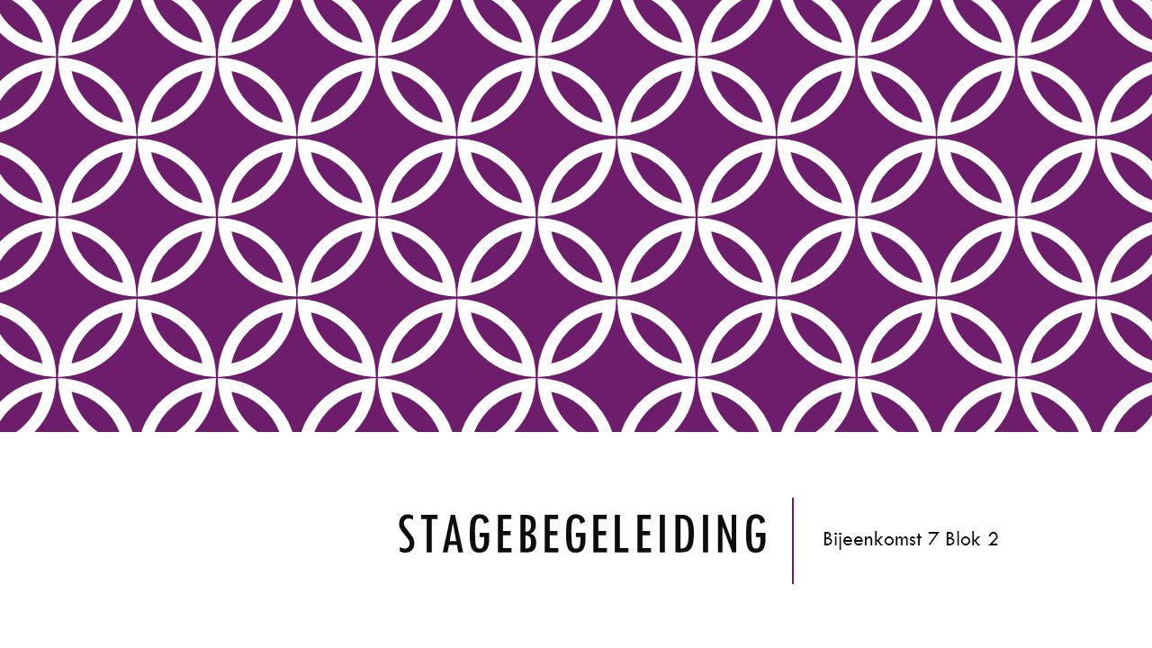 Stagebegeleiding Bijeenkomst 7 Blok 2