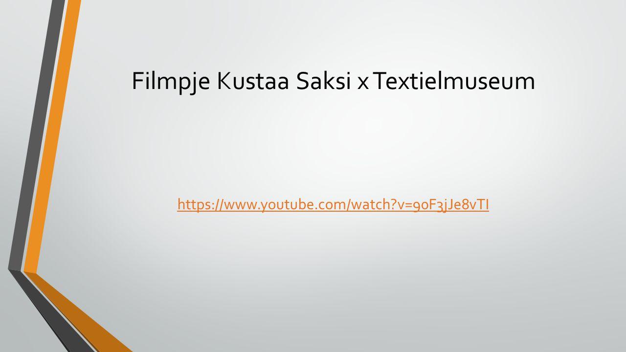 Filmpje Kustaa Saksi x Textielmuseum