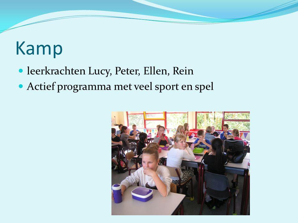 Kamp leerkrachten Lucy, Peter, Ellen, Rein