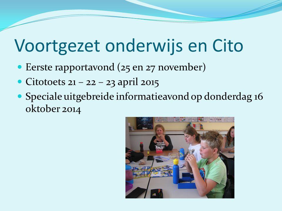 Voortgezet onderwijs en Cito