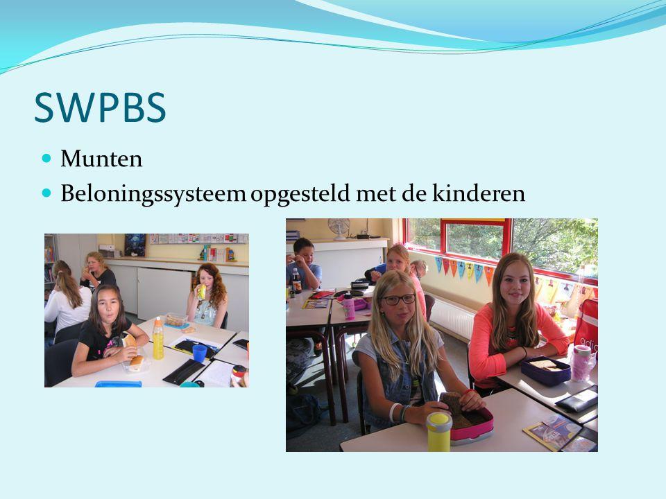 SWPBS Munten Beloningssysteem opgesteld met de kinderen