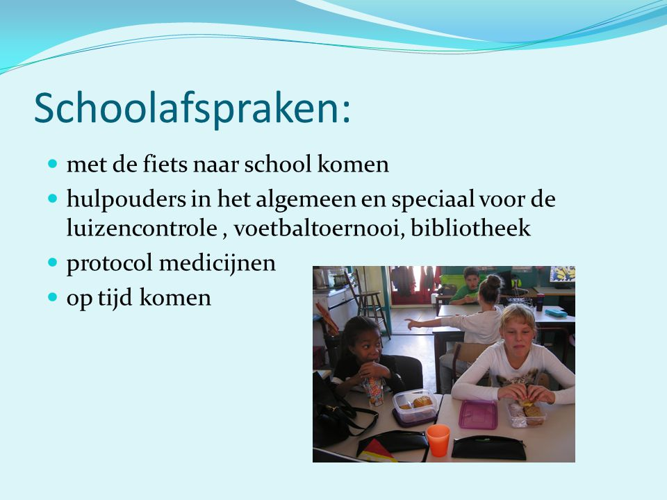 Schoolafspraken: met de fiets naar school komen