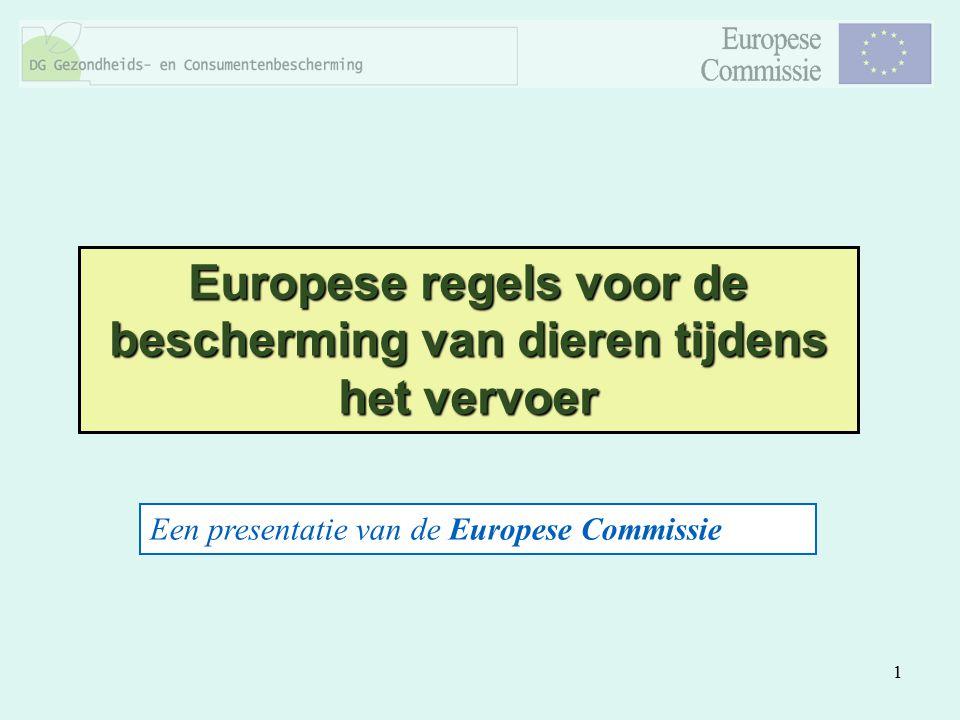 Europese regels voor de bescherming van dieren tijdens het vervoer