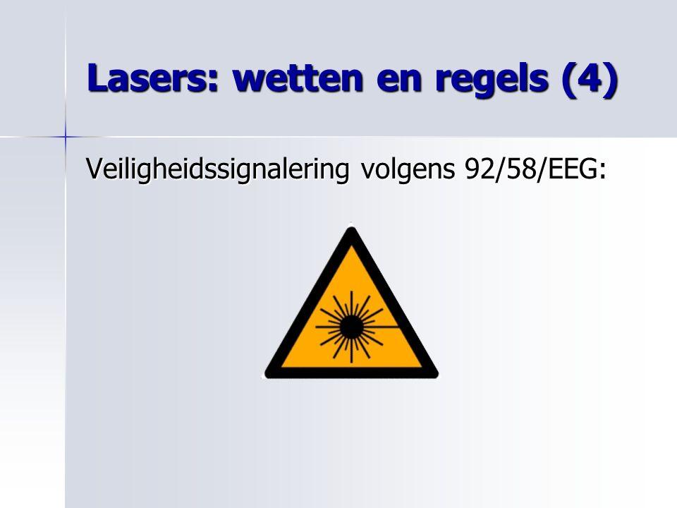 Lasers: wetten en regels (4)
