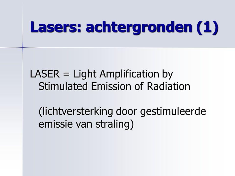 Lasers: achtergronden (1)