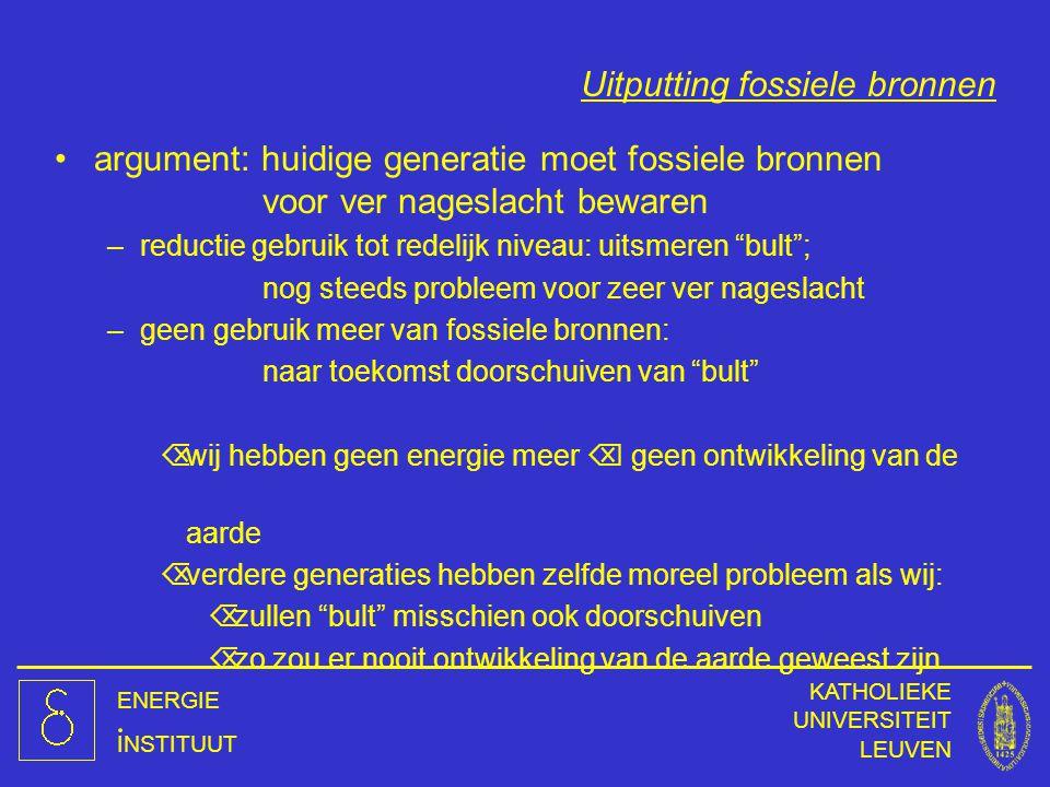 Uitputting fossiele bronnen