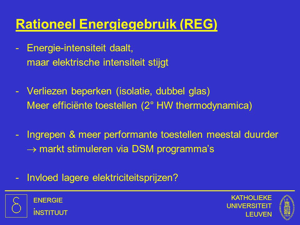 Rationeel Energiegebruik (REG)