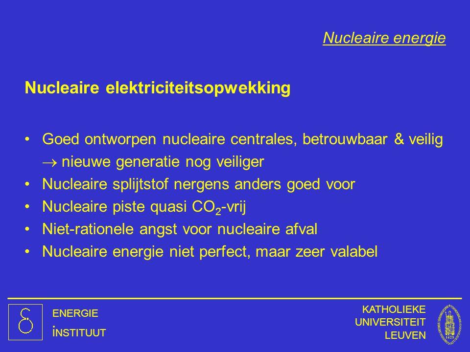 Nucleaire elektriciteitsopwekking