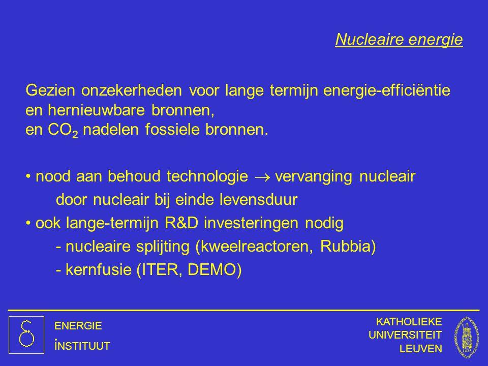nood aan behoud technologie  vervanging nucleair
