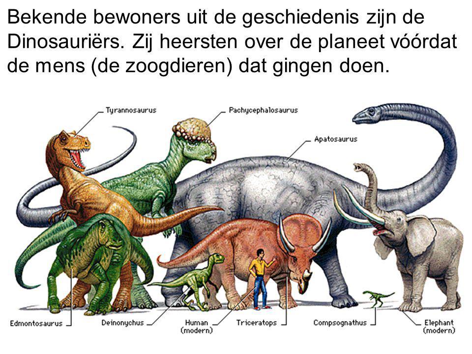 Bekende bewoners uit de geschiedenis zijn de Dinosauriërs