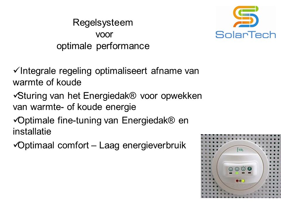 Regelsysteem voor optimale performance