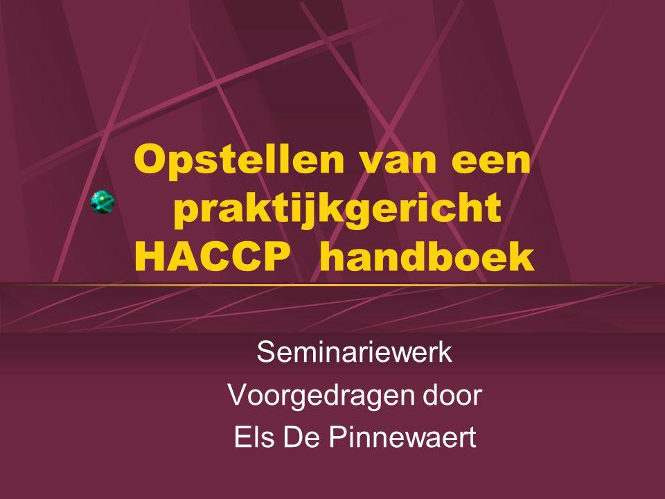 Opstellen van een praktijkgericht HACCP handboek