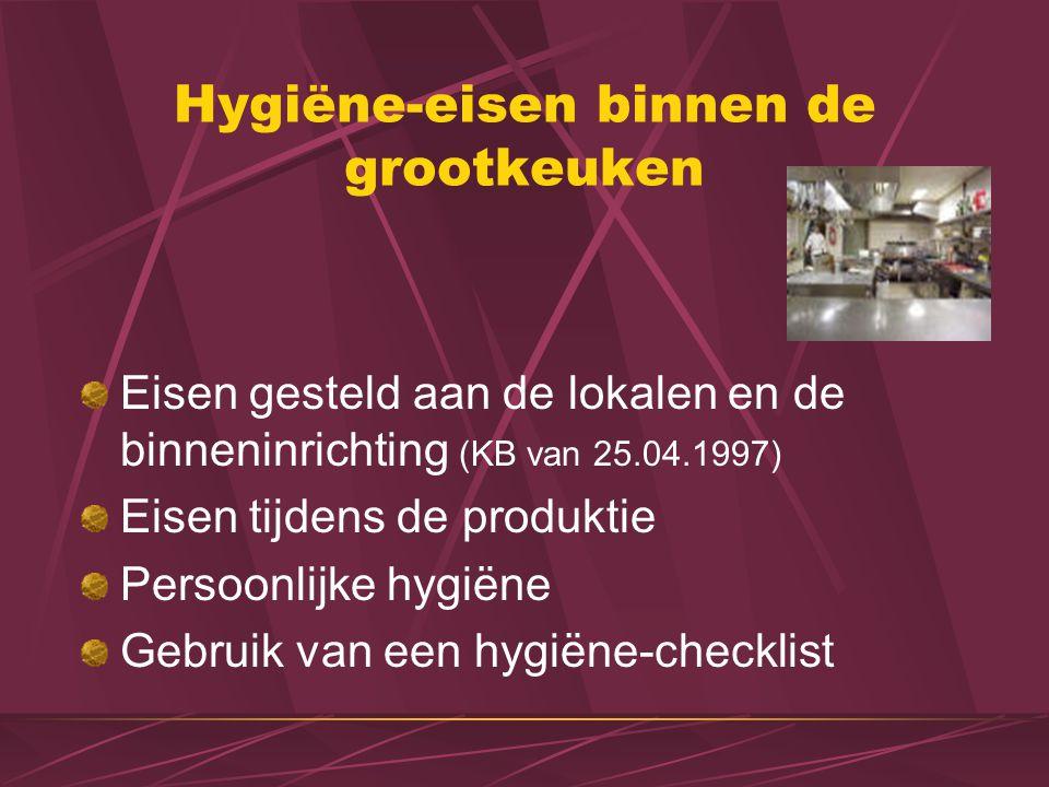 Hygiëne-eisen binnen de grootkeuken