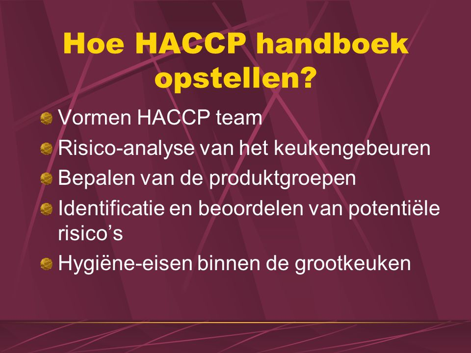 Hoe HACCP handboek opstellen