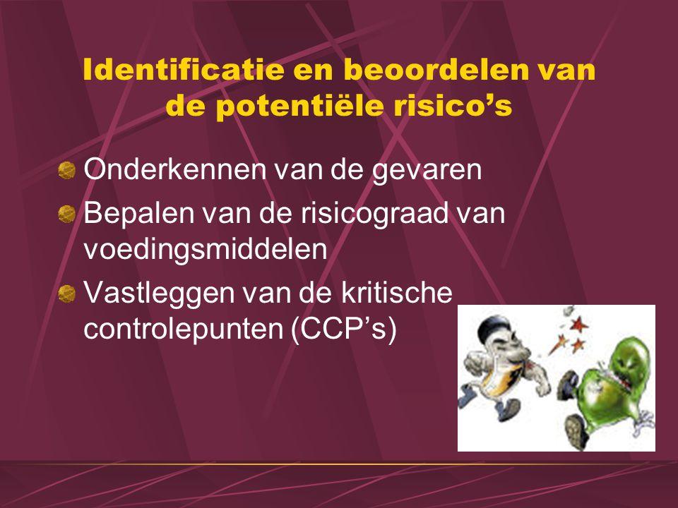 Identificatie en beoordelen van de potentiële risico's