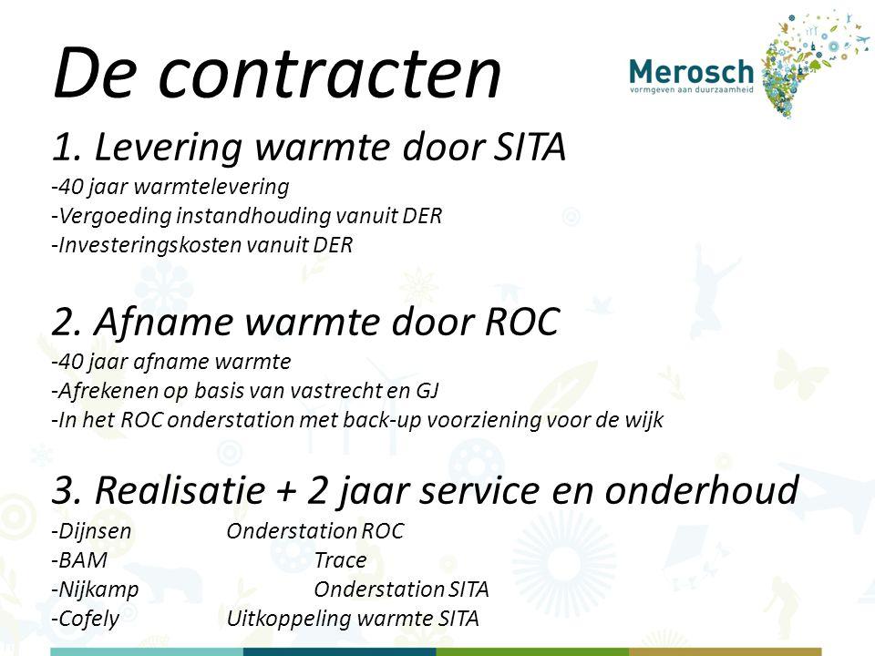 De contracten 1. Levering warmte door SITA 2. Afname warmte door ROC