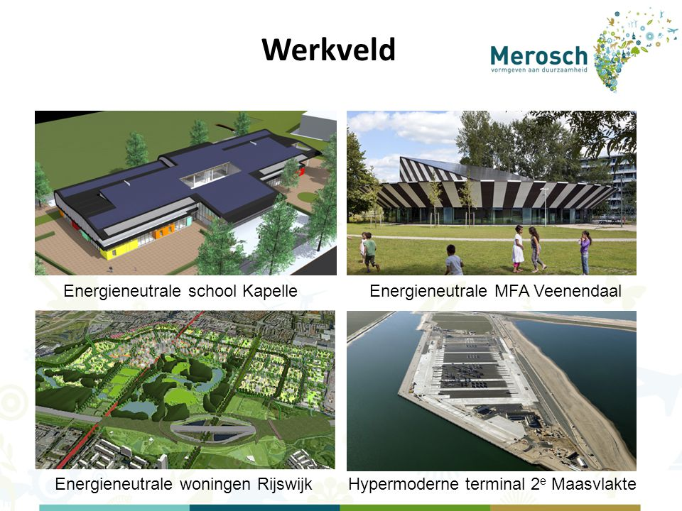 Werkveld Energieneutrale school Kapelle Energieneutrale MFA Veenendaal