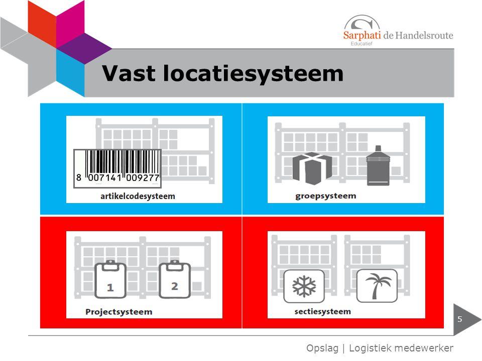 Vast locatiesysteem Opslag | Logistiek medewerker