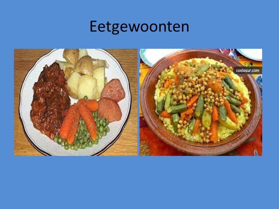 Eetgewoonten Wat en hoe eet je in Nederland; eet je 2x of 3x daags. Eet je aardappelen-vlees-groente of eet je gevarieerd