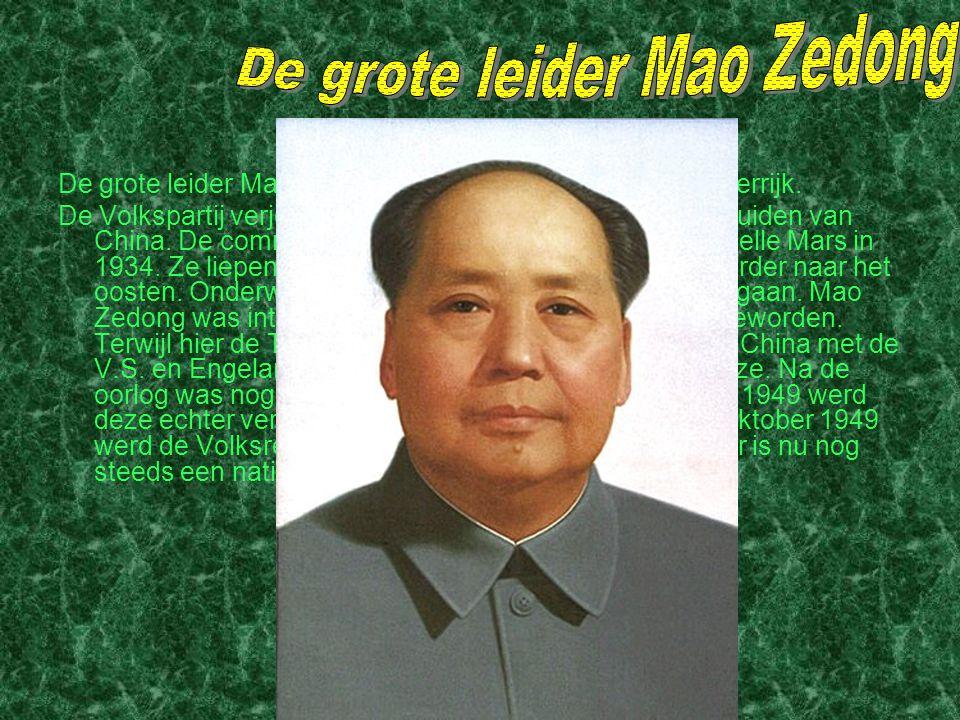 De grote leider Mao Zedong