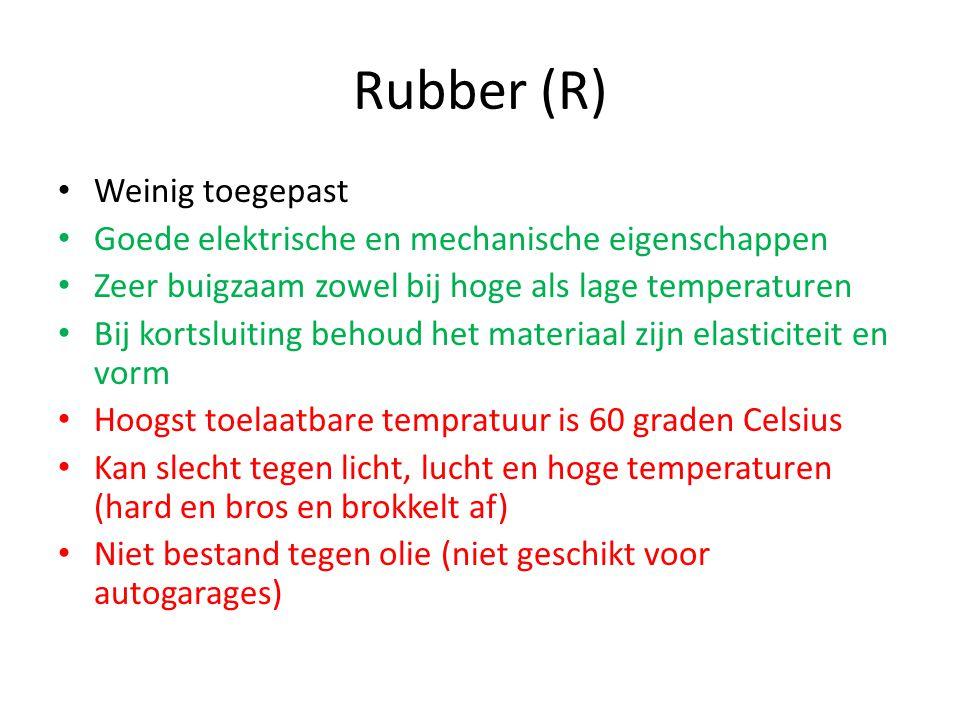 Rubber (R) Weinig toegepast