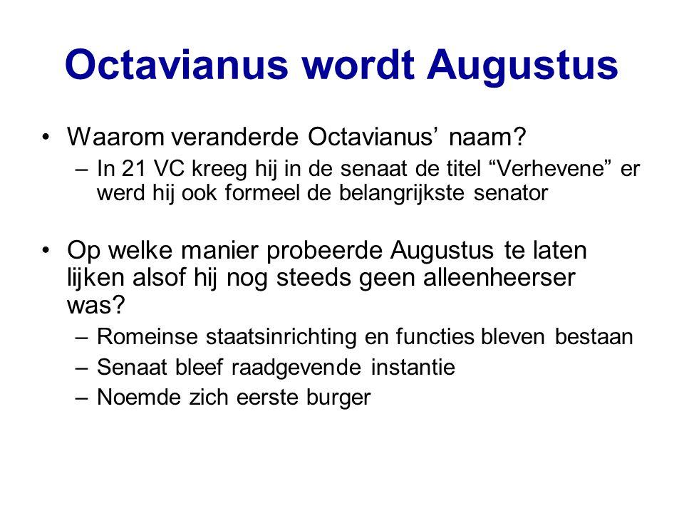 Octavianus wordt Augustus