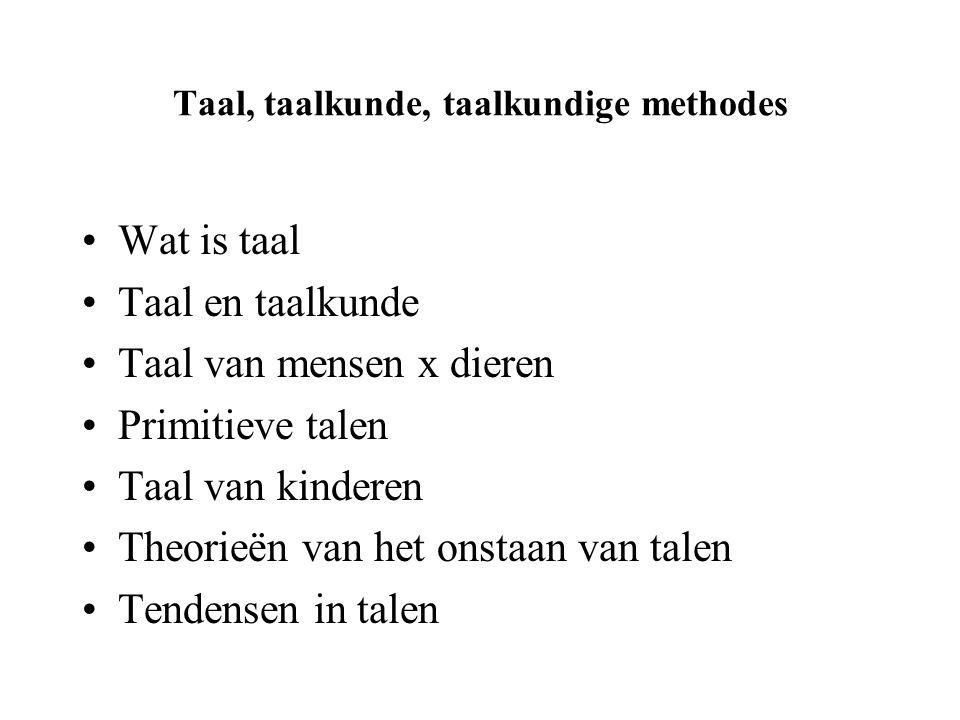 Taal, taalkunde, taalkundige methodes