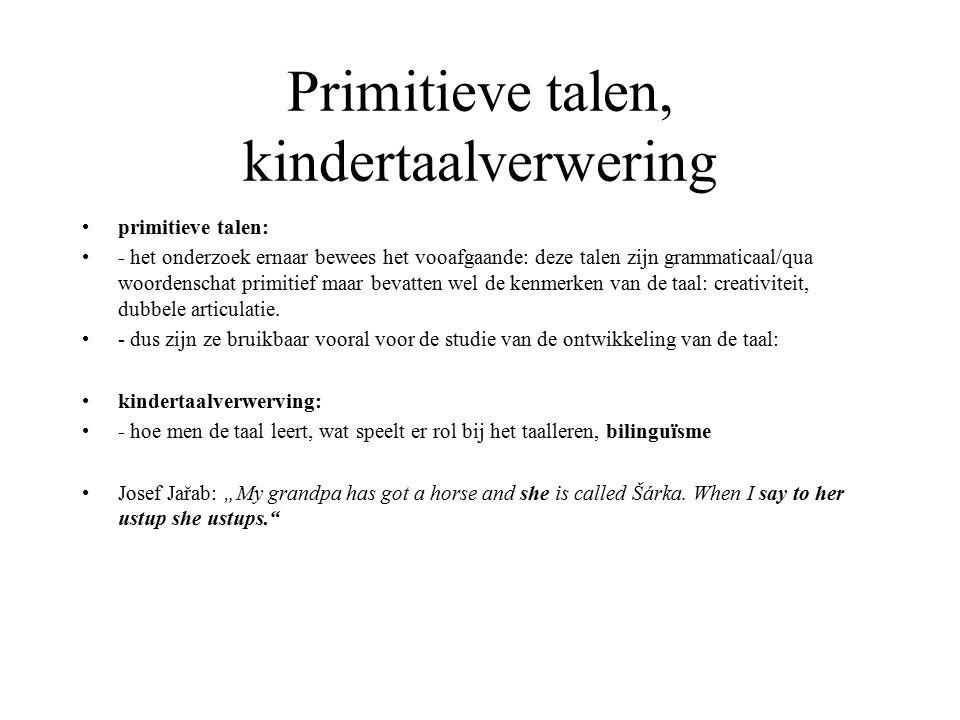 Primitieve talen, kindertaalverwering